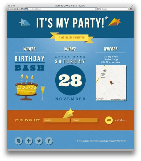 free birthday website templates celebrate envato s birthday with our freebie pack
