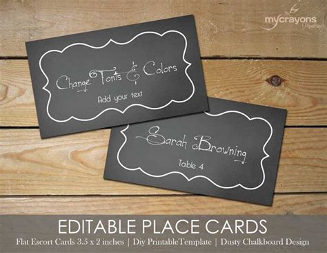 free editable place card template editable place cards by mycrayonspapeterie printable