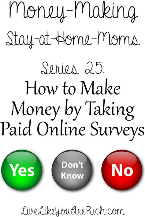 Make Money By Taking Surveys Online - how to make money taking online surveys live like you are rich