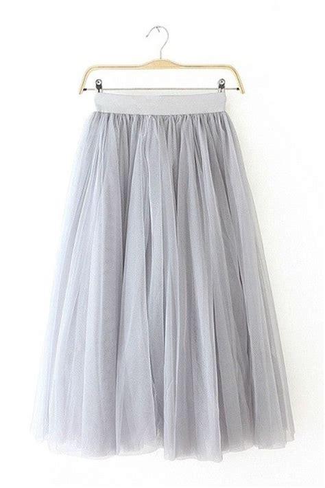High Waist Midi Skirt Grey gray tulle high waist midi skirt grey skirts and us