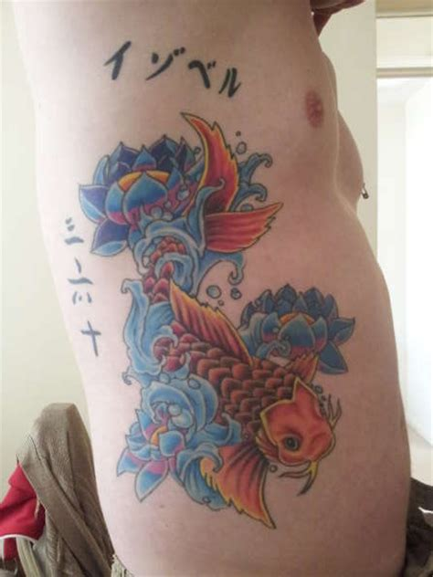 koi tattoo ribs koi on ribs tattoo