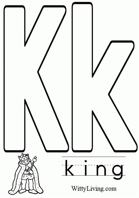 coloring pages of letter k letter k coloring page coloring home