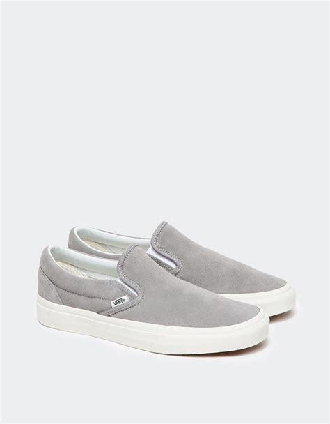Vans Slip On In Grey In Gray Lyst