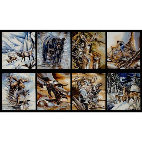 Wildlife Fabric For Quilting by Kaufman American Wildlife Discount Designer Fabric