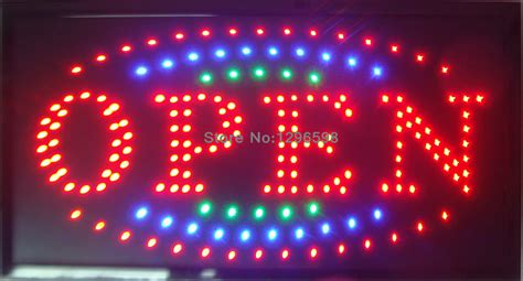 Outdoor Lighted Sign Aliexpress Buy 2016 New Shop Open Sign Direct Selling Led Sign 10x19 Inch Semi Outdoor