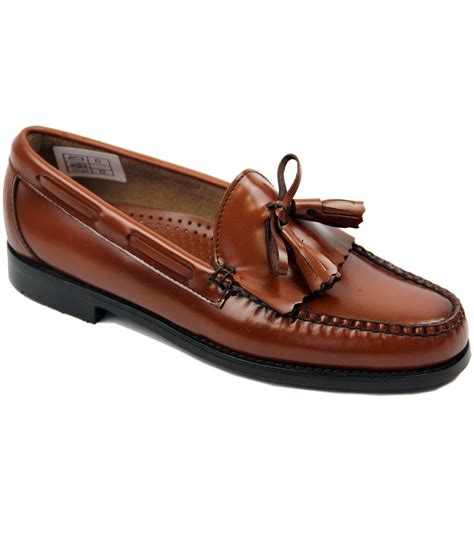 bass loafers weejuns bass weejuns layton retro mod mid brown tassel fringe loafers