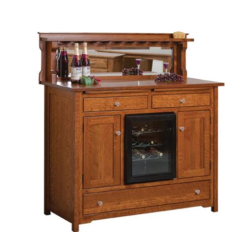 bonzer wine buffet with cooler amish crafted furniture