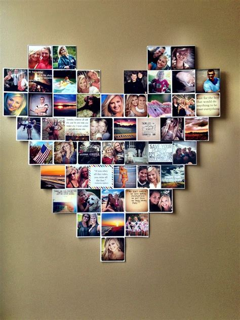 photography room ideas heart photo collage dorm room ideas instagram pictures