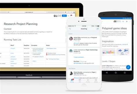 dropbox mobile app dropbox paper apps for ios and android unveiled geeky