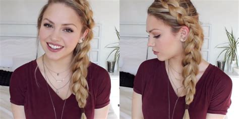 how to do a messy side braid there s a sneaky reason why this side braid looks so perfect