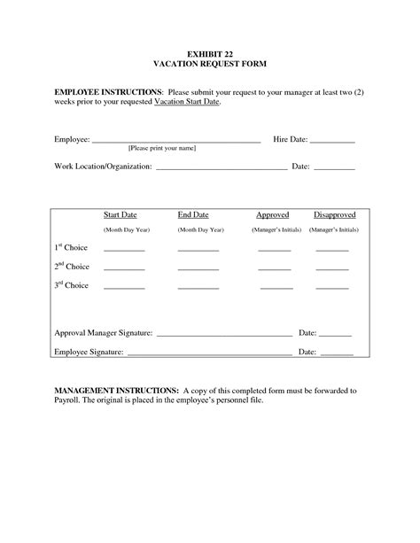 employee request form template best photos of leave request form template employee
