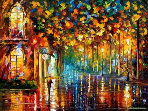 The Dining Room Miami by Leonid Afremov Paintingsframe2000