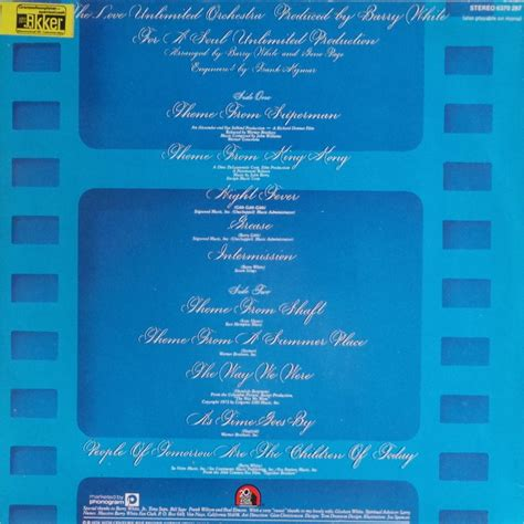 super movie themes love unlimited orchestra super movie themes by the love unlimited orchestra lp