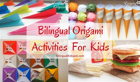 Origami Activities - bilingual origami activities for learning languages