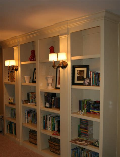 Bookshelves Built Ins Traditional Hall Nashville Houzz Built In Bookshelves