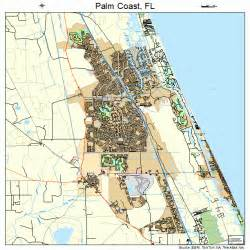 Palm Coast Florida Map by Palm Coast Florida Street Map 1254200