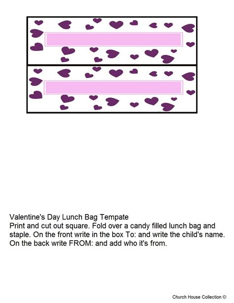 treat bag template s day treat bag