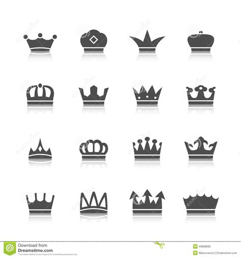 crown icons set stock vector image of network design