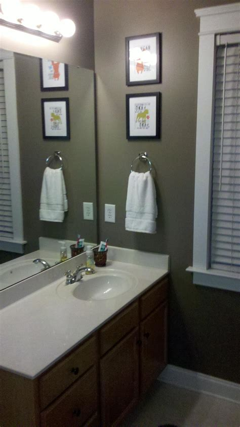 dark paint in bathroom sherwin williams paint warm stone the color is very nice