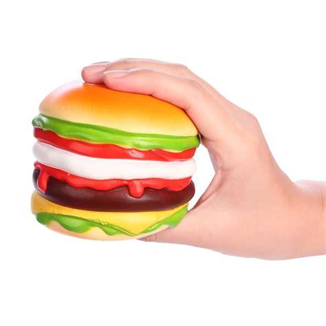 Squishy Burger vlo squishy burger hamburger rising original box packaging bread collection decor