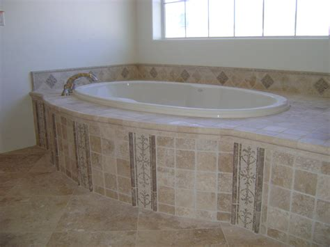 tile bathtub surround travertine tub surround inspiration