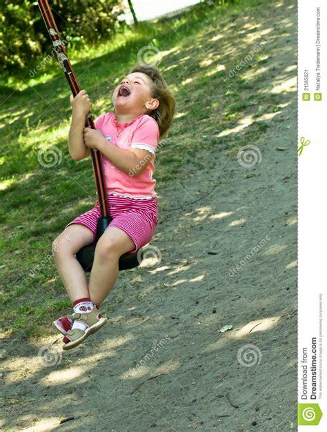 girl on the swing baby girl on the swing stock image image 21565621