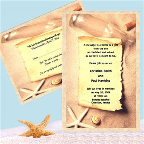 How To Make A Message On Paper - ca wedding invitation idea message in a bottle