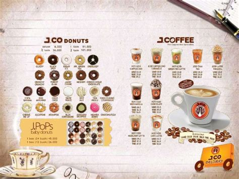 Menu Dan Jco Coffee perilaku konsumen strategi pemasaran j co coffee and