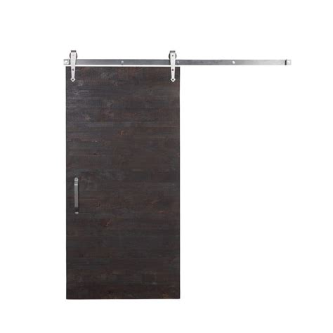 Rustica Hardware 42 In X 84 In Rustica Reclaimed Stain Reclaimed Barn Door Hardware