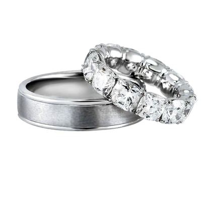 platinum wedding rings his and hers his and hers wedding rings his 6 mm wide 2mm thick in