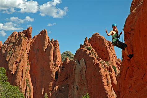 Garden Of The Gods Rock Climbing Colorado Springs Adventure Packages Garden Of The Gods
