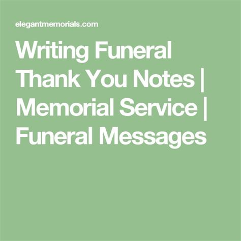 thank you letter after funeral service 25 best ideas about funeral thank you notes on