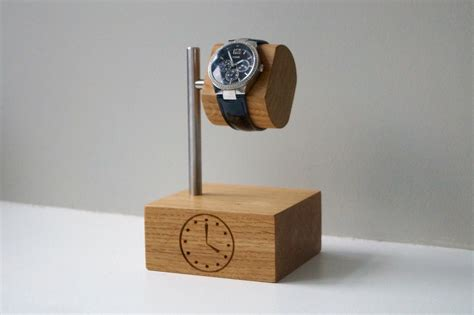 personalised wooden watch stand makemesomethingspecial