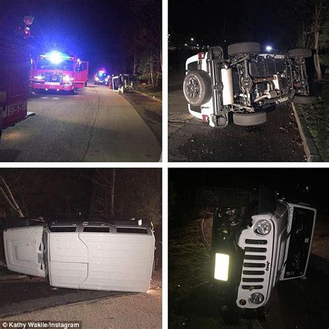 crashed white jeep of jersey kathy wakile s