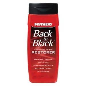 mothers back to black trim and plastic restorer walmart