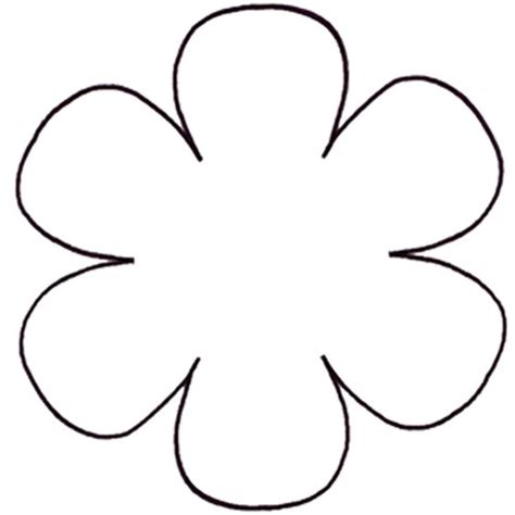 flower template with 6 petals the world s catalog of ideas