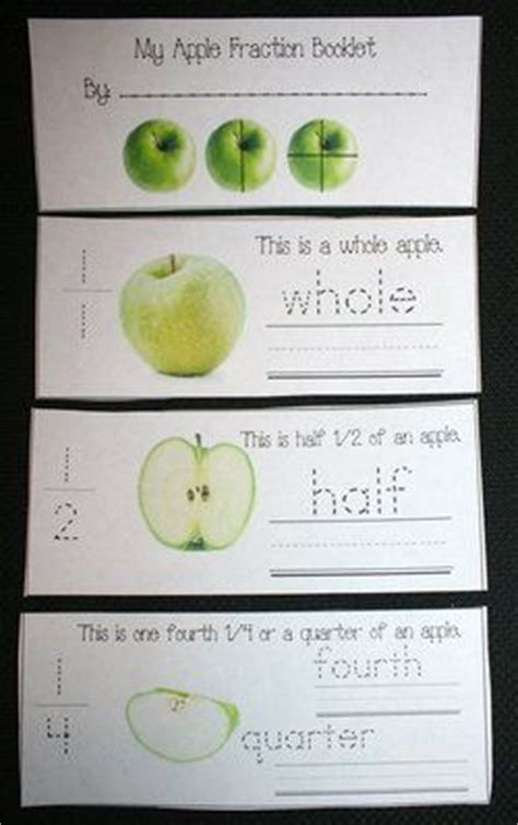 fraction booklet template free apple trace write fraction booklet includes