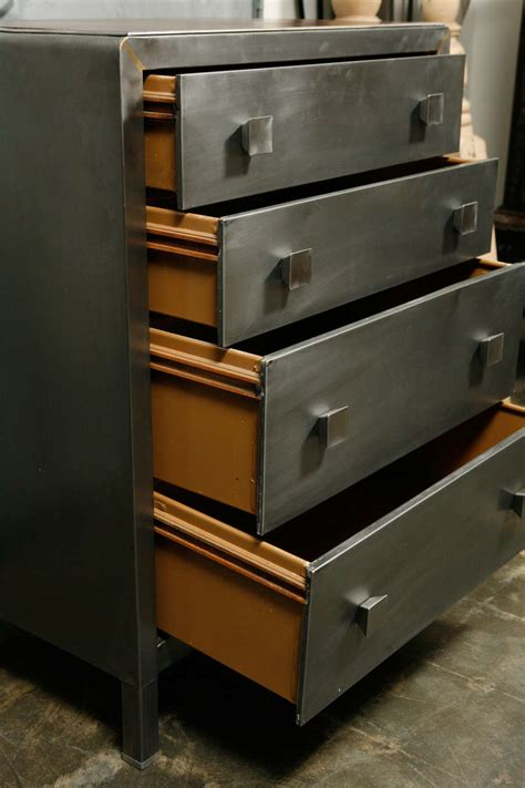 modern polished metal chest of drawers at 1stdibs