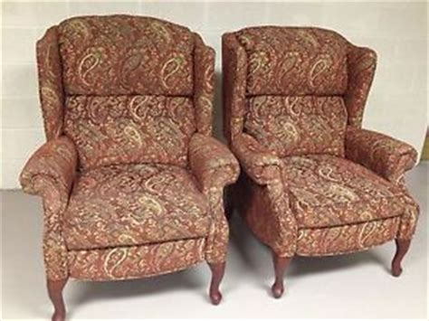 lazy boy queen anne recliner queen anne wingback chair slipcovers