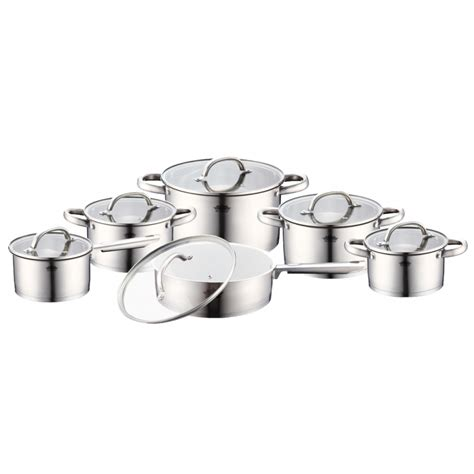 Panci Set Stainless Cookware 12pcs cookware set 12pcs