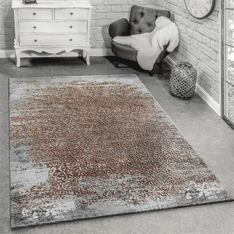 teppich hochflor beige modern designer living room rug with decorative pattern