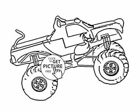 kids monster truck videos scooby doo monster truck coloring page for kids