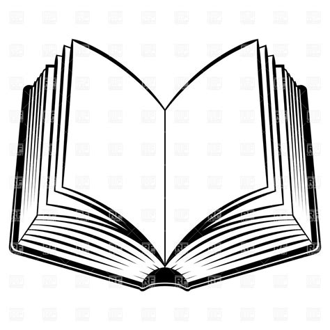 Outline Of A Open Book open book outline clipart free clipart images 2 clipartix