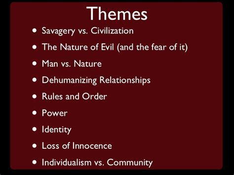 lord of the flies theme civilization vs savagery quotes lord of the flies notes