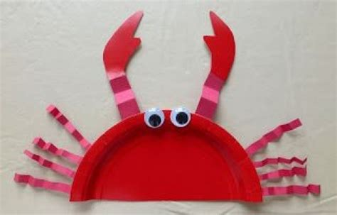 Crab Paper Plate Craft - 28 themed diy animal craft ideas for diy