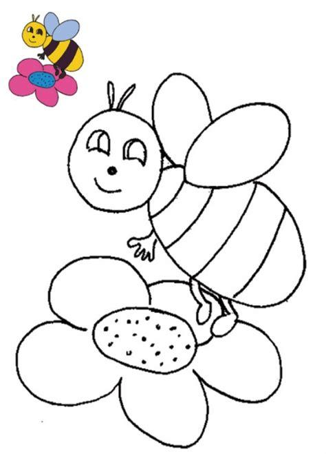 Imprimer Le Coloriage Avec Mod 232 Le Abeille Sur La Fleur