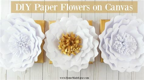 Paper Flowers At Home - how to make paper flowers home made luxe craft