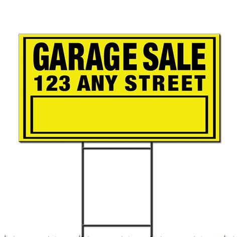 Custom Garage Sale Signs by Garage Sale Custom Corrugated Plastic Yard Sign Free