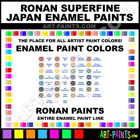 ronan superfine japan enamel paint colors ronan superfine japan paint colors superfine japan