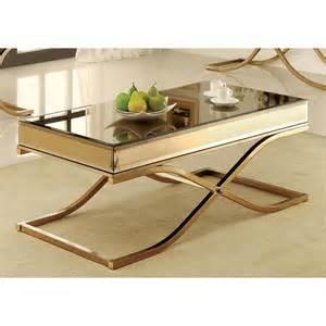 Gold Metal Coffee Table Furniture Of America Orelia Luxury Gold Metal Coffee Table
